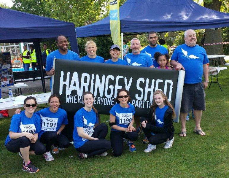 Team Shed Angels 2015 with Haringey Shed supporter Cliff Parisi